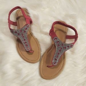 Shoes - Pink Jeweled Sandals